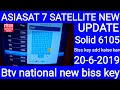 Solid 6105 settop box me biss key add kaise kare Btv national new biss key 20-6-2019