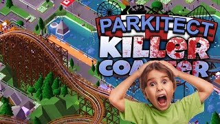 Parkitect Gameplay Part 1 - The Killer Roller Coaster! (Let