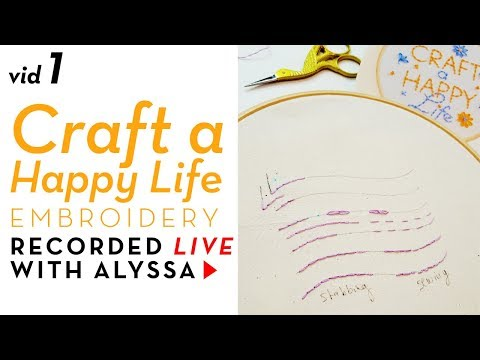 Neat, even, clean, perfect stitches - Video 1 Craft a Happy Life embroidery kit #RelaxAndCraft