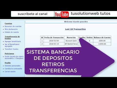 Sistena Bancario De Depositos Y Retiros (codigo Fuente Php Mysql )