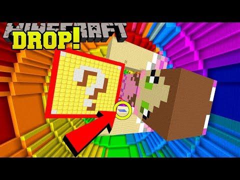 Minecraft: DROPPING ONTO GIANT JEN!!! - POPULARMMOS VS CRAINER DROPPER - Custom Map
