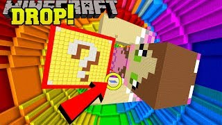 Minecraft: DROPPING ONTO GIANT JEN!!! - POPULARMMOS VS CRAINER DROPPER - Custom Map
