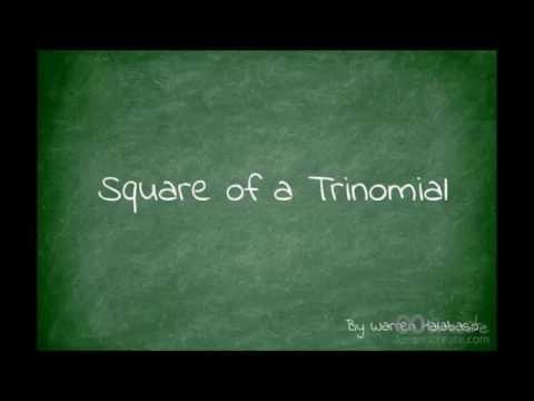 Special Products - Square Of A Trinomial