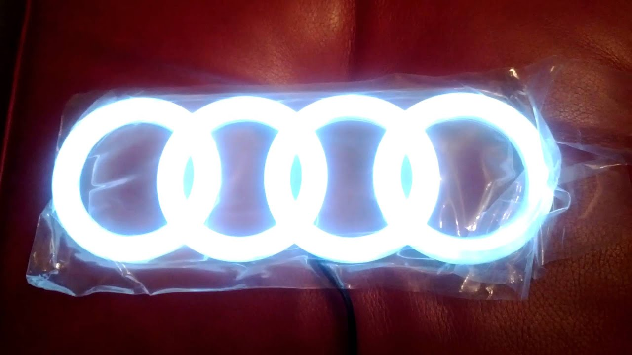 audi led front badge youtube. Black Bedroom Furniture Sets. Home Design Ideas