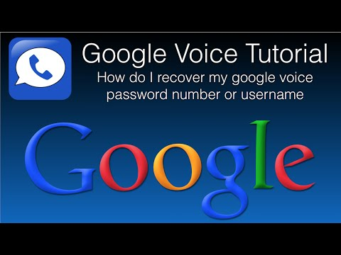 How Do I Recover My Google Voice Password Number Or Username