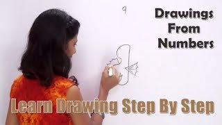 Drawing From Number 9 | How to Draw with Numbers | Fun with Numbers | Learn Drawing for Kids