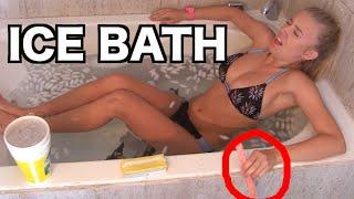 ICE BATH CHALLENGE!! Girl Edition
