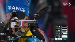 JO 2018 : Biathlon - Relais Mixte. Simon Desthieux assure et prend la troisième place !