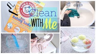 Clean with Me Using BAKING SODA!!! 13 Amazing Baking Soda Hacks Everyone Should Know!