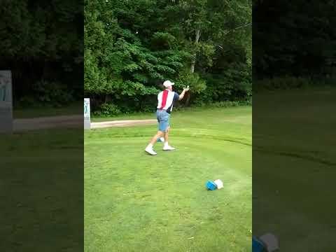 Golfer Catches Ball After Failed Shot
