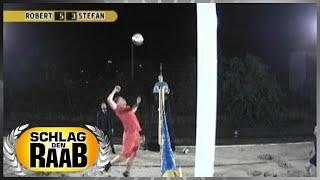 Spiel 7: Beachvolleyball - Schlag den Raab