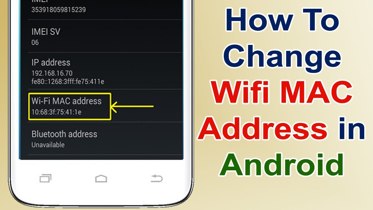 Change MAC address with Terminal Emulator