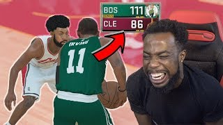 KYRIE IRVING DOMINATES LEBRON JAMES! 1st NBA Game Cavs Vs Celtics Opener NBA 2k18 MyCareer Ep3