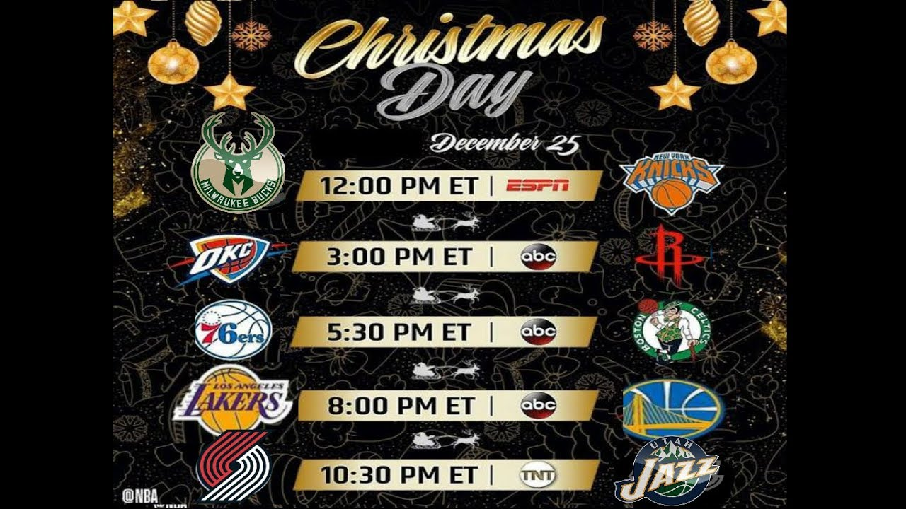 Nba Christmas Day Schedule.Nba Christmas Schedule Released For The 2018 19 Sesaon