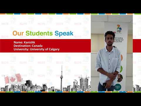 Students Speak: Kanishk studying in University of Calgary, Canada