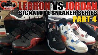 Jordan vs Lebron Sneakers Series Part 4: Air Jordan 4 (IV) vs Nike Zoom Lebron 4 (IV)