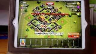 Attaque de barbare niveau 3 sur clash of clans