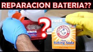 Se pueden reparar baterias con bicarbonato? (experimento en 2 baterias)