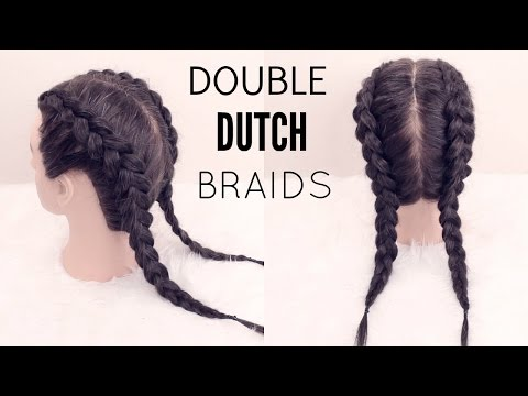 How to: Double Dutch Braid Hair Tutorial