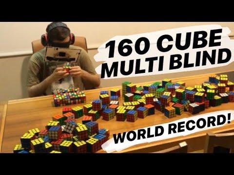Solving 160 Rubik's Cubes Blindfolded (WORLD RECORD)