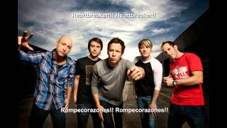 Addicted - Simple  plan (LETRA EN ESPAÑOL E INGLES)