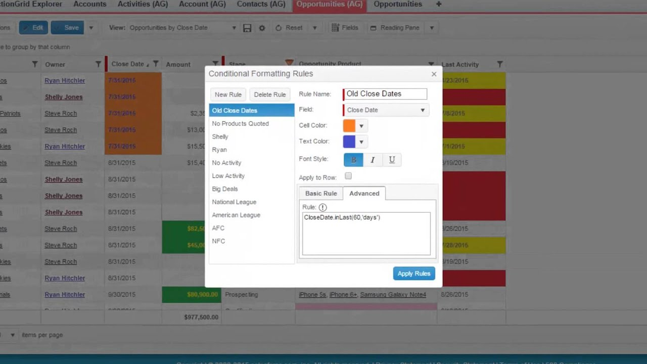 Conditional Formatting - Conga Support