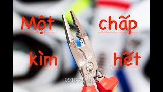 Kìm đa năng 6 tác dụng, Knipex 13 96 200 (Pliers for Electrical Installation )Cucai TV