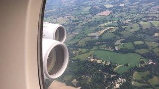 EMIRATES A380 LANDING AT LONDON GATWICK AIRPORT JUNE 2018