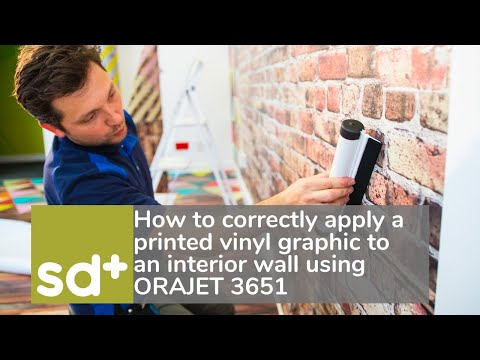 How to correctly apply a printed vinyl graphic to an interior wall.