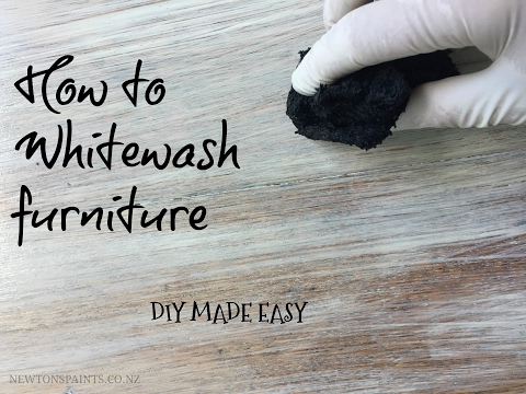 How to Whitewash furniture Tutorial-DIY made Easy®