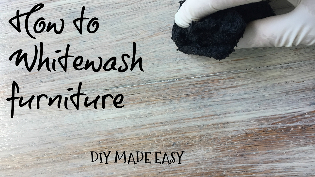 How To Whitewash Furniture Tutorial Diy Made Easy