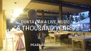 "Pearl Beach Club Wedding, ""a thousand years"" sax cover"