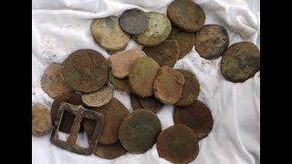 В поисках клада в Европе  № 93 Нашел остатки клада Римских монет