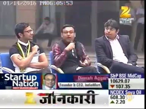 Dinesh Agarwal talks on StartUp India on ZEE Business