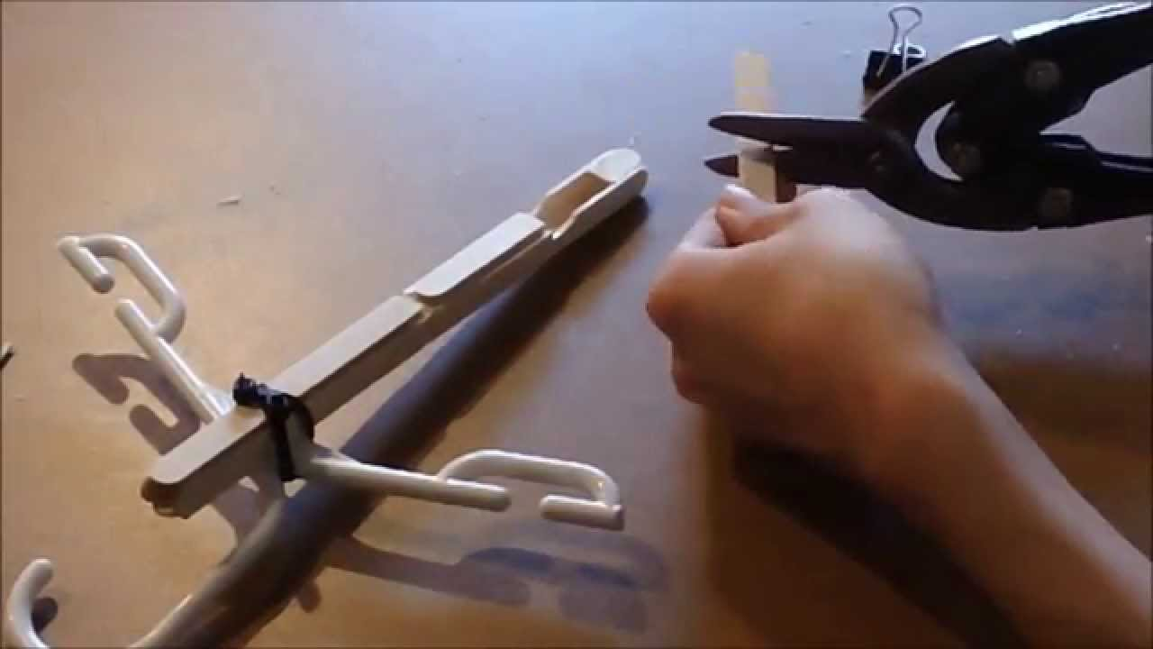 How to make a mini crossbow - Super Powerful