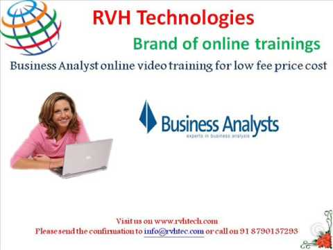 Business Analyst online video training for low fee price cost