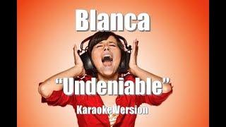 "Blanca ""Undeniable"" BackDrop Christian Karaoke"