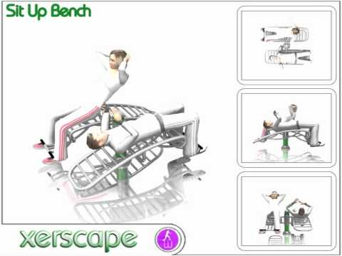 Outdoor Gym Equipment - Sit Up Bench