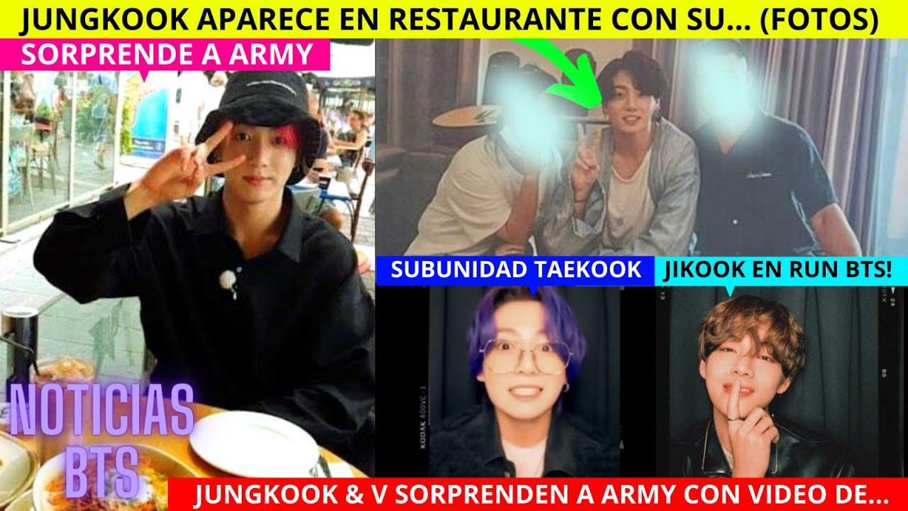JUNGKOOK APARECE en RESTAURANTE CON SU/ JUNGKOOK & V en VIDEO SORPRENDEN ARMY/ BTS CONCIERTO SECRETO