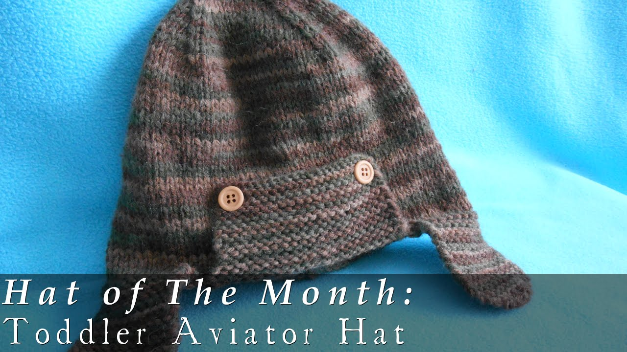 Toddler Aviator Hat { Knit } - YouTube