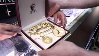Rick Ross visits his Jewelers at Rafaello&Co