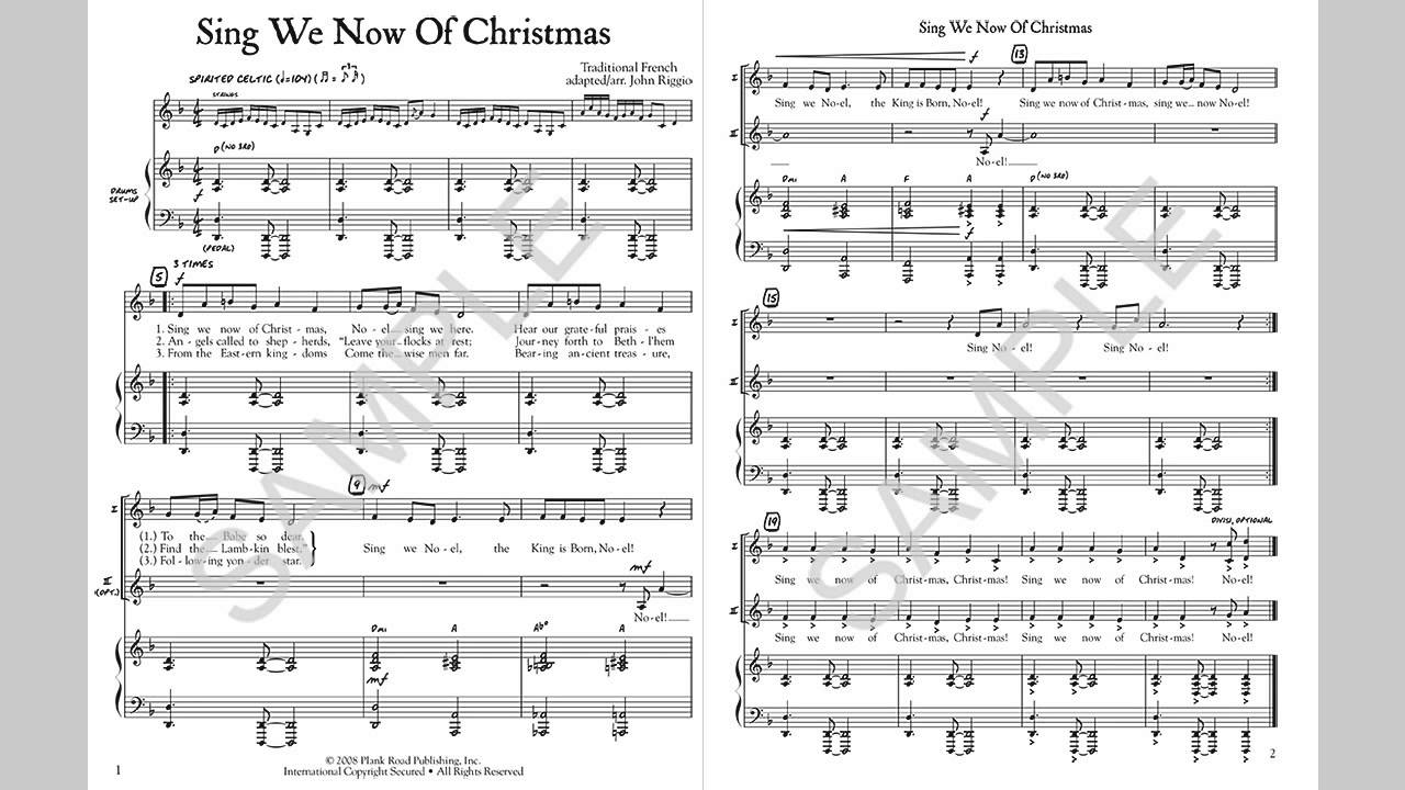 Sing We Now Of Christmas.Sing We Now Of Christmas Musick8 Com Singles Reproducible Kit