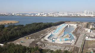 "(Tokyo 2020 Games)""Kasai Canoe Slalom Centre"" Time-Lapse footage"