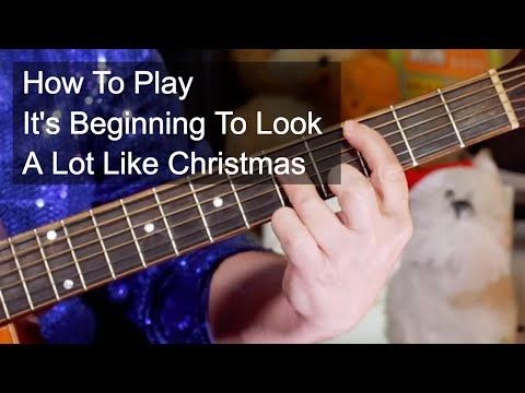 'It's Beginning To Look A Lot Like Christmas' Acoustic Guitar Lesson
