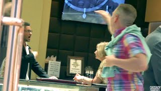 Spoiled Rich Kid Freaks out at his Dad in the Jewelry Store!