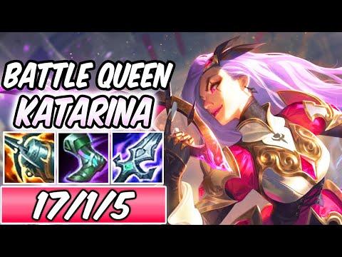 S+ CLEAN BATTLE QUEEN KATARINA MID NEW LEGENDARY SKIN GAMEPLAY   Build & Runes   League of Legends