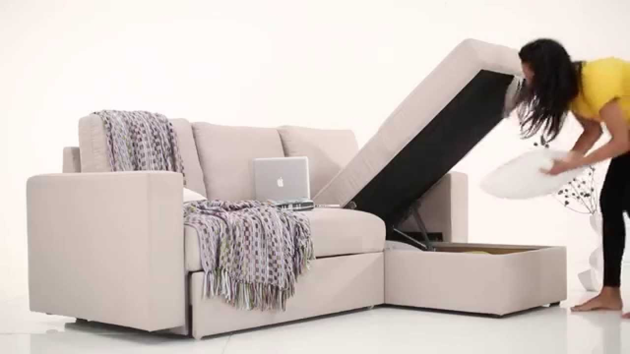 Kowloon Sectional Sofa Bed   YouTube