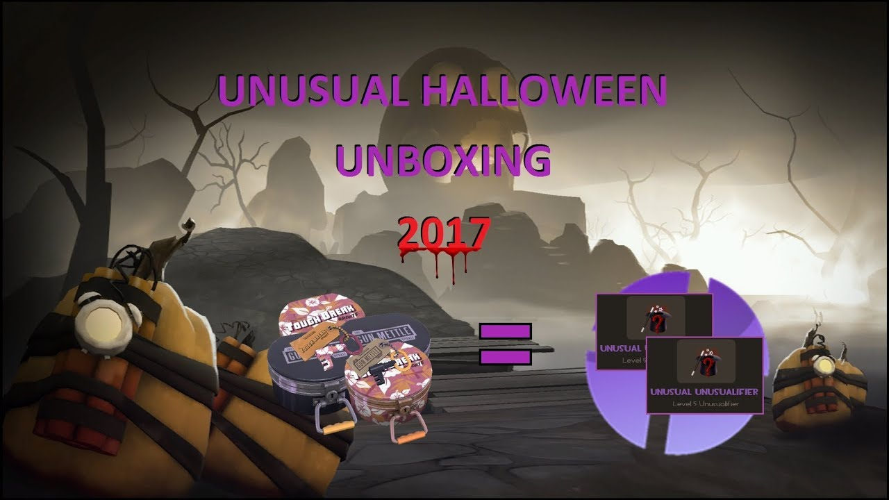 TF2 Halloween 2017 Unusual Unboxing (Even More Taunts) - YouTube