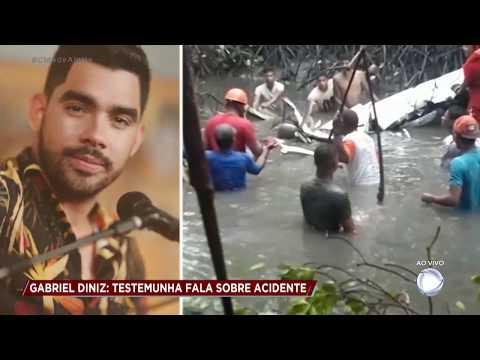Testemunha fala dos momentos que antecederam queda do avião de Gabriel Diniz