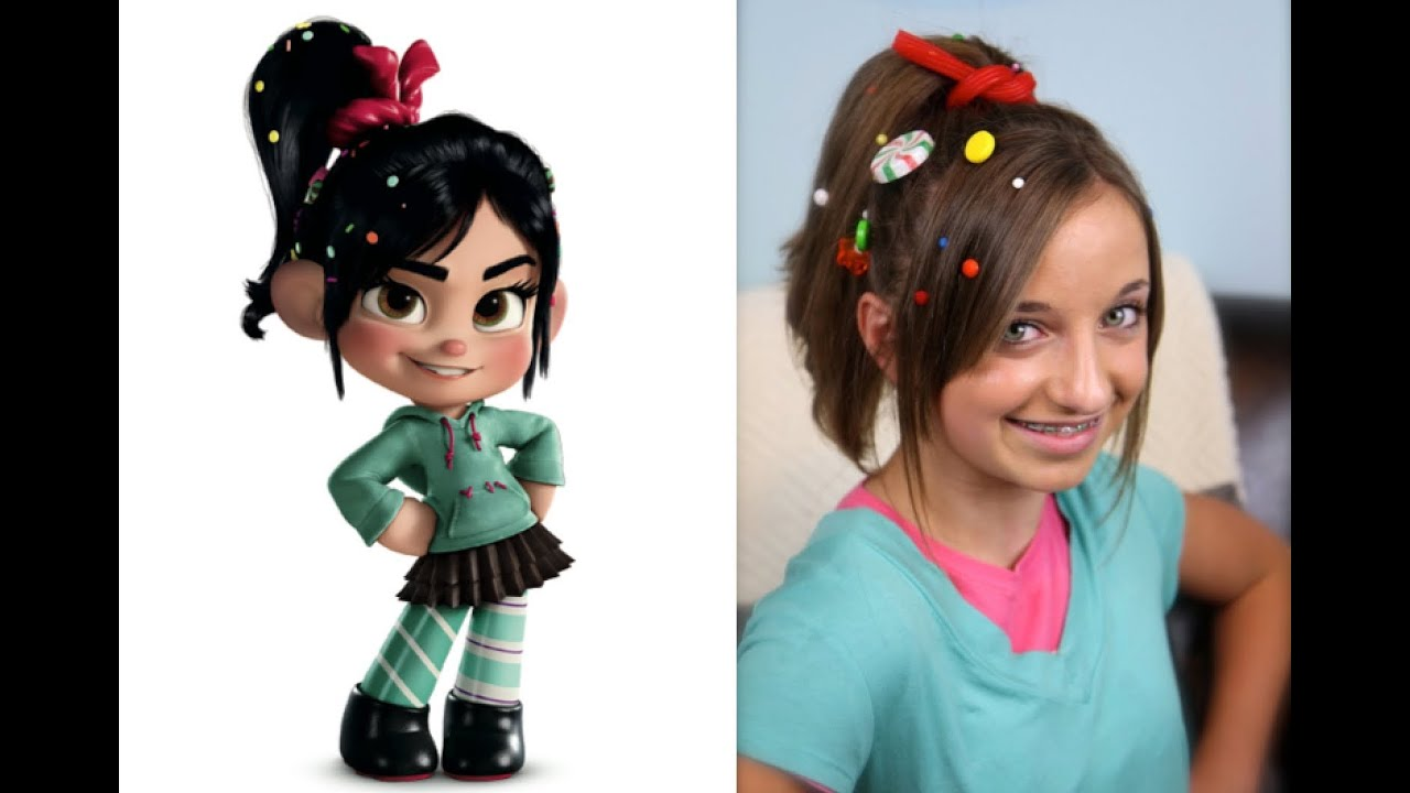 Wreck-It Ralph Hairstyle Tutorial A CuteGirlsHairstyles Disney ...